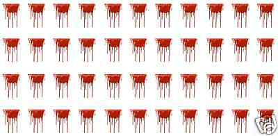 Dripping Blood Nail Art Waterslide Decals - Great for Halloween! Salon Quality!