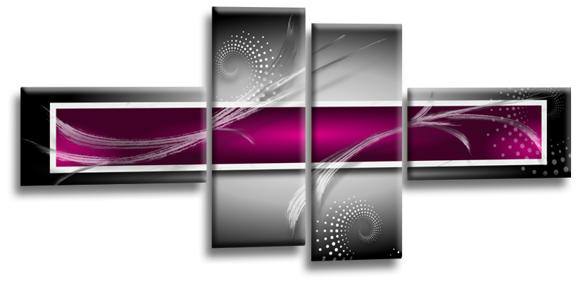 """ABSTRACT SQUARES WALL ART PICTURE GREY PURPLE WHITE CANVAS SPLIT PANEL 56/"""""""