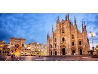 4 return flight tickets Dublin - Milan , 3.Jul-10.Jul