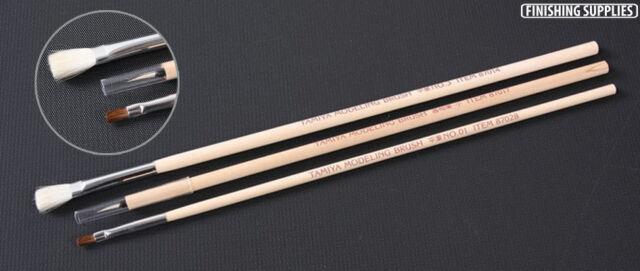 Tamiya 87066 Modeling Paint Brush Basic (3pcs) Set Craft Tool=87014+87015+87017