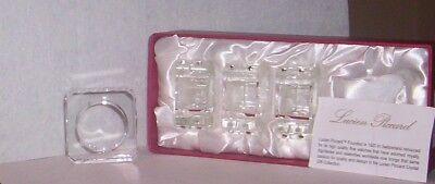 Lucien Piccard CRYSTAL  NAPKIN  RINGS Set of 4 NIB 4 Crystal Napkin Rings