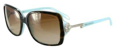 NEW Tiffany Women 4043B 81343B Top Havana Blue Key Crystals Sunglasses (Tiffany Women)