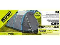 Horizon 4 Man Blow Up Tent (Free Air Pump)