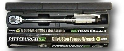 38 inch Drive Click Stop Torque Reversible Wrench with Carry