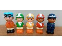 Happyland racing car drivers and police