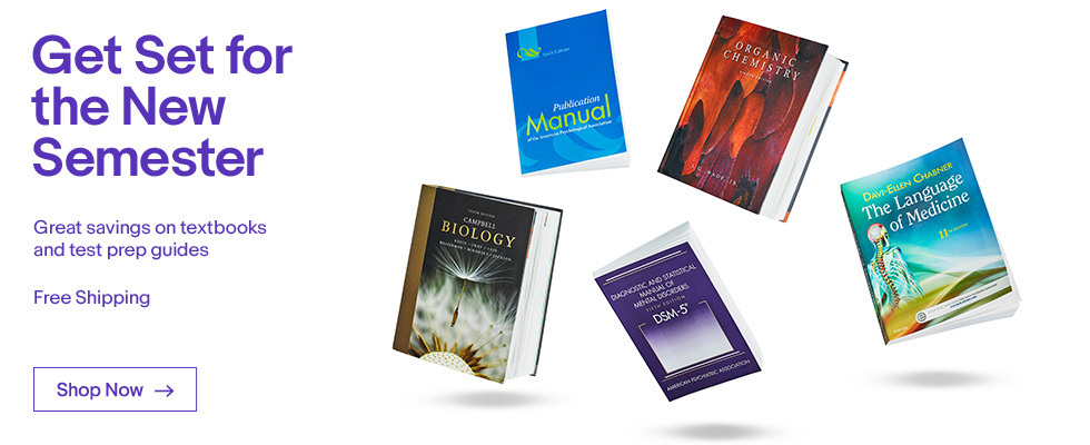 Get Set for the New Semester | Great savings on textbooks and test prep guides | Free Shipping | Shop Now