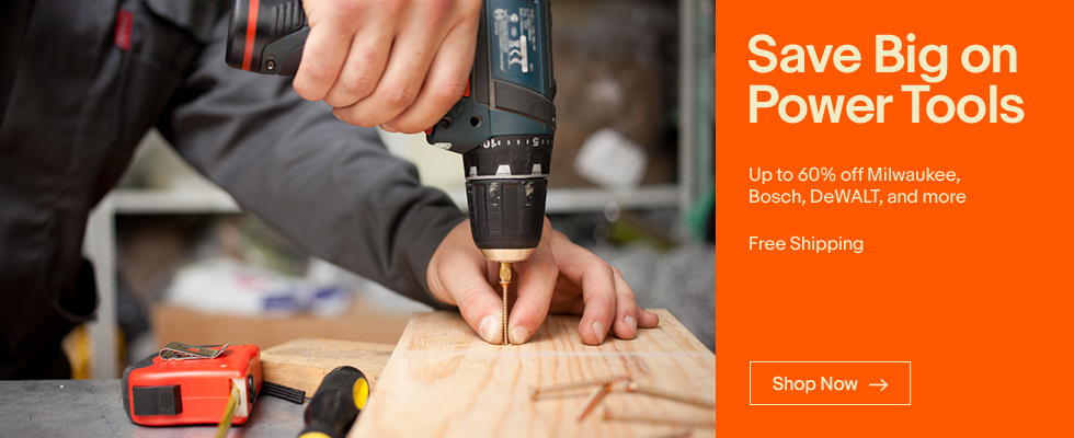 Save Big on Power Tools Up to 60% off Milwaukee, Bosch, DeWALT, and more | Free Shipping | Shop Now