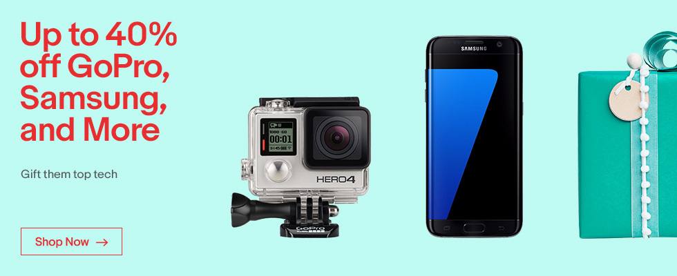 Up to 40% off GoPro, Samsung, and More | Gift them top tech | Shop Now