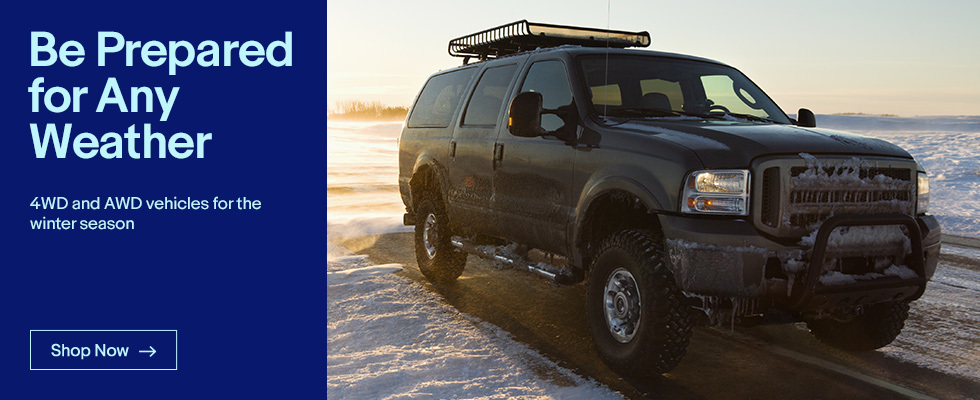 4WD and AWD vehicles for the winter season | Shop Now