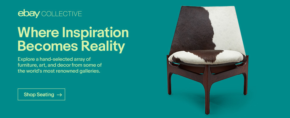 eBay Collective | Where Inspiration Becomes Reality | Explore a hand-selected array of furniture, art, and decor from some of the world's most renowned galleries. | Shop Seating