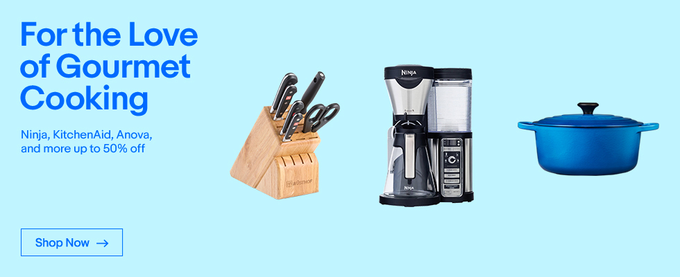 For the Love of Gourmet Cooking | Ninja, KitchenAid, Anova, and more up to 50% off | Shop Now