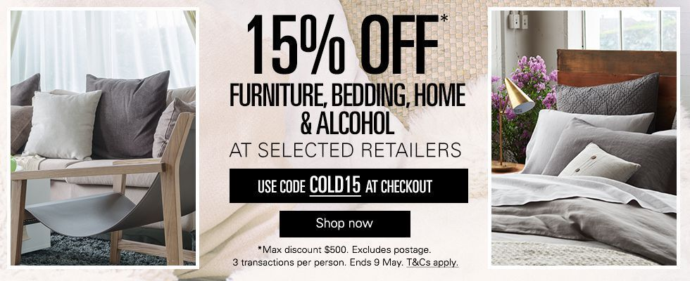 15% off Selected Retailers
