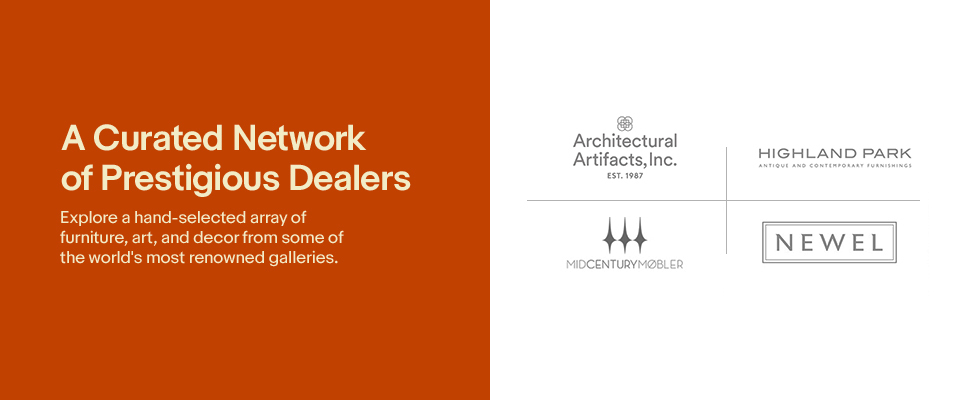 A Curated Network of Prestigious Dealers | Explore a hand-selected array of furniture, art, and decor from some of the world's most renowned galleries.
