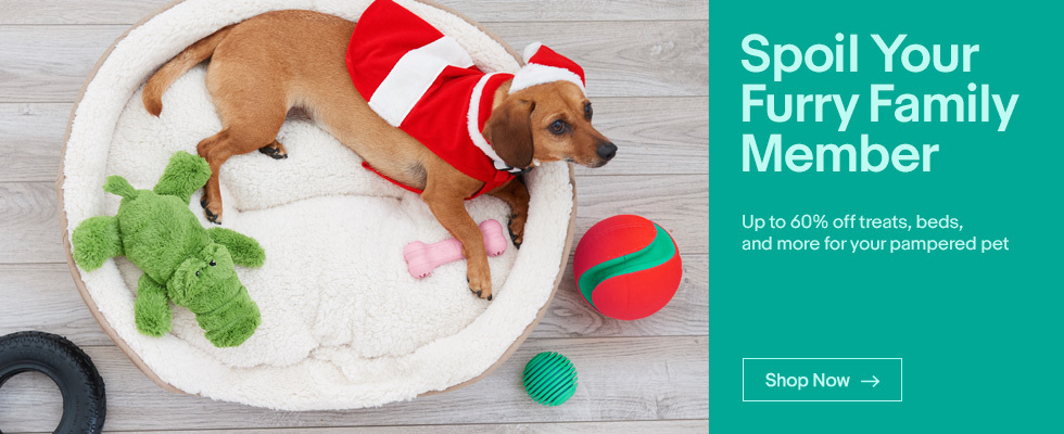 Spoil Your Furry Family Member | Up to 60% off treats, beds, and more for your pampered pet | Shop Now