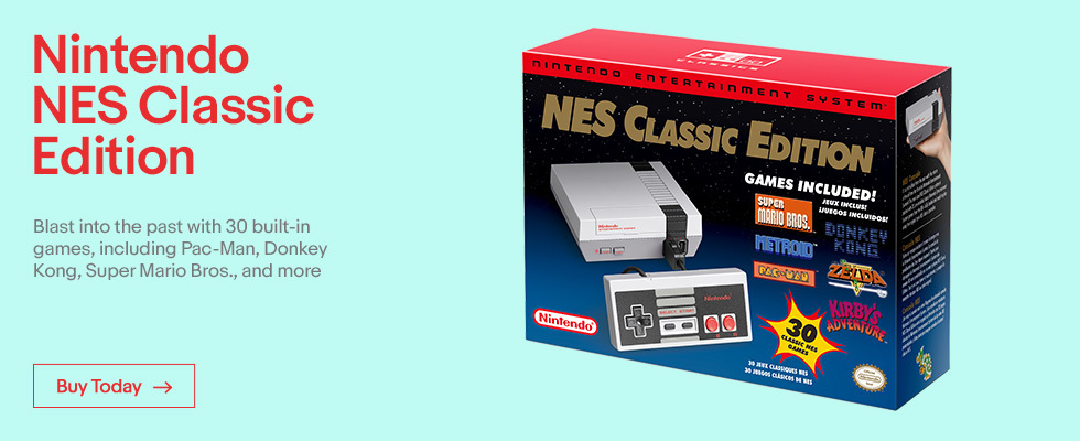 Nintendo NES Classic Edition | Blast into the past with 30 built-in games, including Pac-Man, Donkey Kong, Super Mario Bros., and more | Buy Today