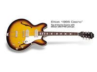 Elitist Casino Guitar Sunburst John Lennon Beatles Beach Boys Gibson Pickups MINT AS NEW 1965