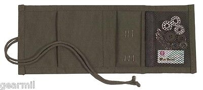 Sewing Kit Travel Tri-fold Od Canvas Wallet Needles Thread Buttons Pins