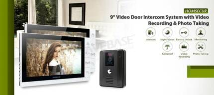 "New 9"" Wired Video Door Phone Intercom System 2 Monitors 1 Camera"