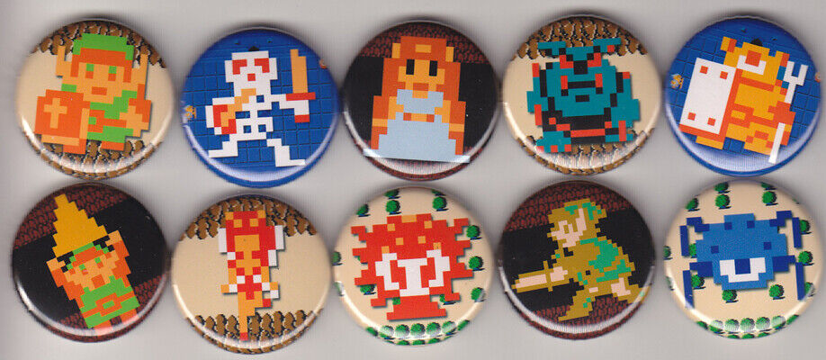 Legend Of Zelda 1 Pinback Buttons Or Magnets Set Of 10 - $7.50