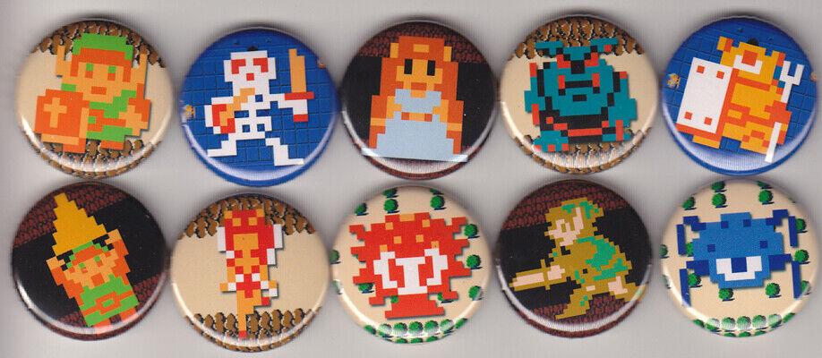 Legend Of Zelda 1 Pinback Buttons Or Magnets Set Of 10 - $7.50