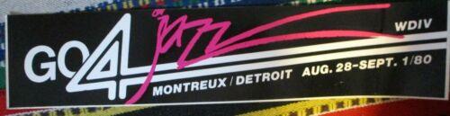 Orig 1980 MONTREUX DETROIT JAZZ FESTIVAL Bumper Sticker WDIV Channel 4