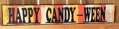 AG Designs Halloween Decor - Long Mantle Sign Happy Candy-Ween #82412