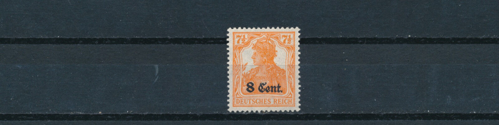 Etappe West 8 Cent. Germania 1916 gute Farbe Michel 3 b geprüft (S14356)