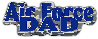 Air Force Car Magnets (Military Car Magnets: AIR FORCE DAD (Camouflage Design) | United States)