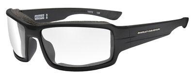 Harley-Davidson Men's Cruise 2 Gasket Sunglasses, Clear Lens/Black Frame HACRS03