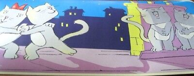 Cartoon Cat Cats Kittens on the Rooftops  Wallpaper Border 28805 NIP Blue Purple