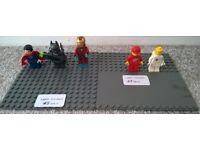 Selection of genuine LEGO Minifigures Superman Batman Iron Man Space Men Vintage