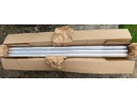 (RRP £142) 3 x Alumasc 2m x 63mm Round Milled Aluminium Down Drain Pipe Guttering Heritage Drainage