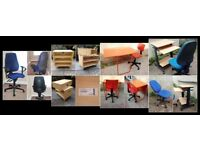 Quality Office and Ikea Furniture - Desks, Swivel Chairs, TV Stand