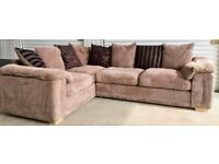 STUNNING DFS CORNER SOFA - MODEL CELINE - LIKE NEW CONDITION - RRP £1300 - QUICK SALE £350 ONO