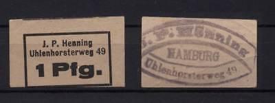 [14562] - NOTGELD HAMBURG, J. P. Henning, Uhlenhorsterweg 49, 1 Pf, o. D. (um 19
