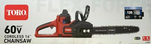 Toro 51850 16in Cordless Chainsaw 60V Max Flex-Force Power w/ Battery & Charger