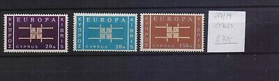 ! Cyprus 1963. Stamp. YT#217/219. €70.00!