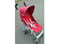 Chicco London Stroller Pushchair Red Buggy