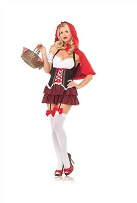 Leg Avenue Ravishing Red Riding Hood Costume 83515 Red/Black Medium/Large](Black Riding Hood Costume)
