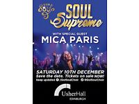 Got Soul + Mica Paris at the Usher Hall. Edinburgh. 1 ticket. Row E of stalls.