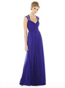 ALFRED SUNG Electric Blue Plus sized chiffon dress!