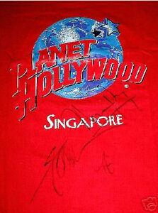 Planet hollywood fann wong autograph t shirt ebay for Planet hollywood t shirt