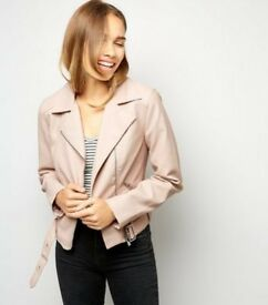 New Look pink faux leather jacket