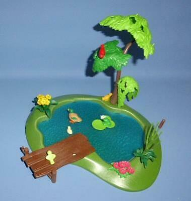 Playmobil Lake / Large Pond Ducks / Bird Frog Tree + Wildlife Country Castle NEW