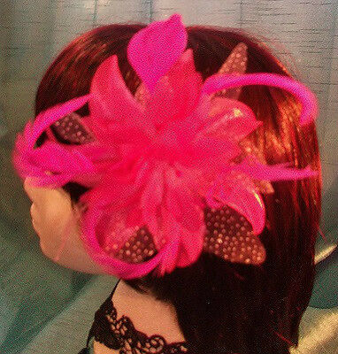 Burlesque Halloween-party (STEAMPUNK/BURLESQUE LILAC FEATHER Fascinator-wedding/prom/halloween/party )