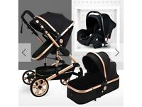 BRAND NEW Pram Carrycot Wiith Car Seat - Never Used!! Excellent condition