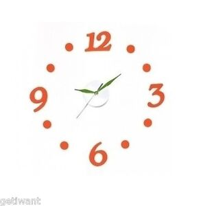 DIY Adhesive Design Modern Art Foam Digit Number Wall Clock Interior Home Decor
