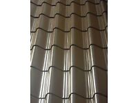 Tile effect roofing sheets, vandyke brown plastisol, other colours available
