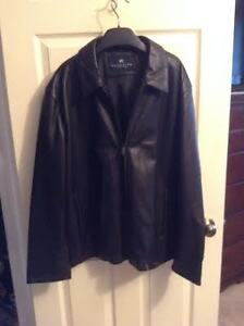 MEN'S LEATHER JACKET REACTION (BY KEN COLE) NEW