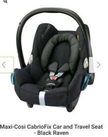 Maxi-Cosi CabrioFix Car and Travel Seat - Black Raven